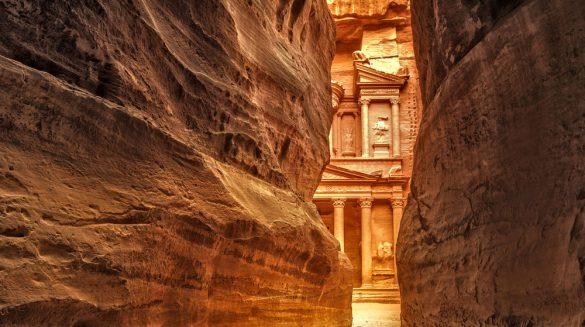 Uno scorcio di Petra viaggio in Giordania