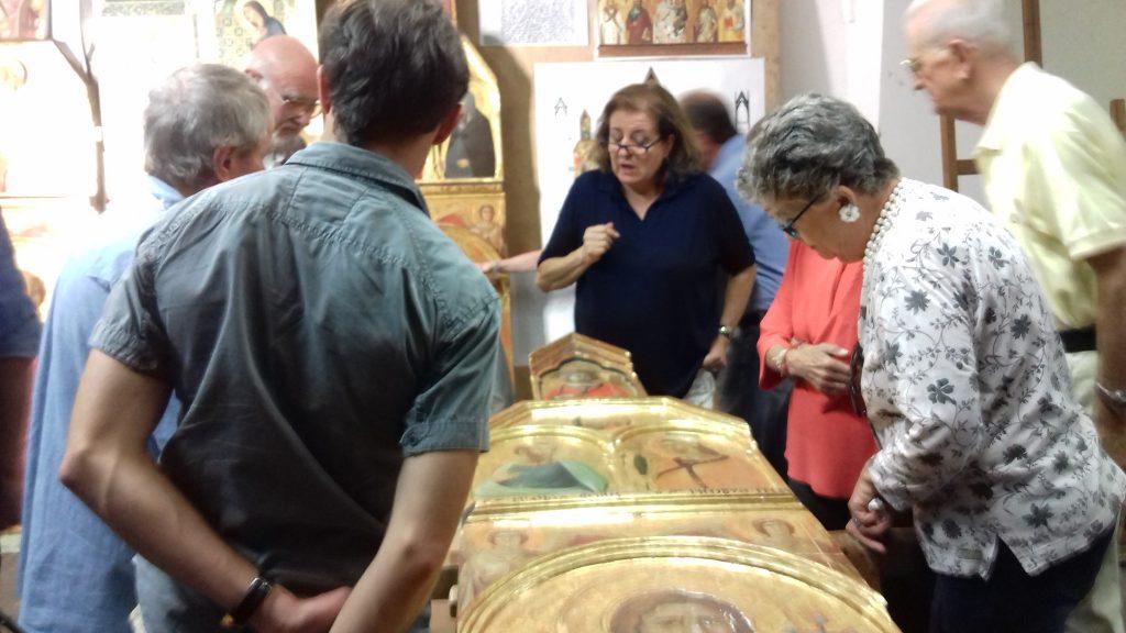 Arezzo, studio RICERCA, restauro ddel Polittico del Lorenzetti