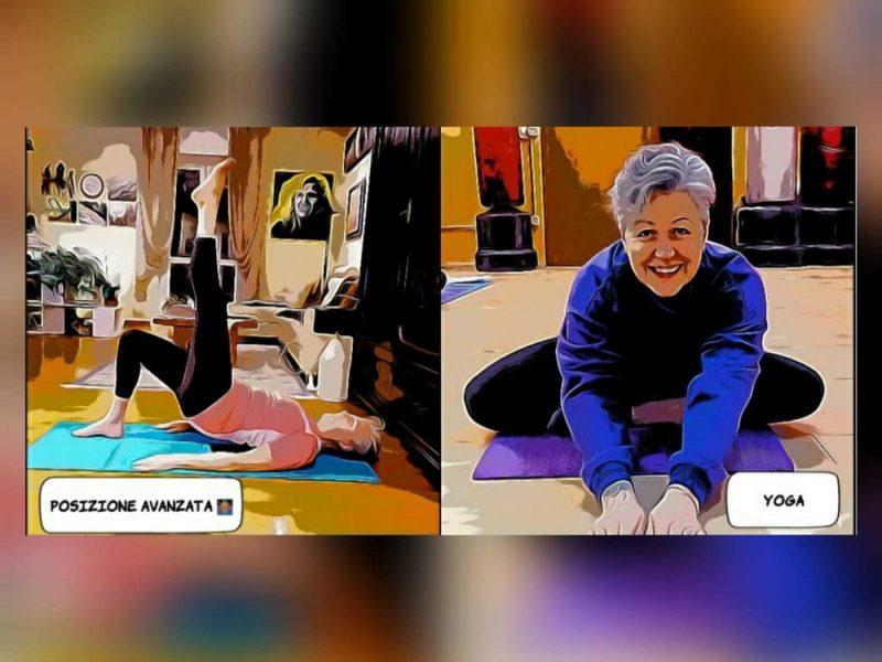 Una donna fa yoga