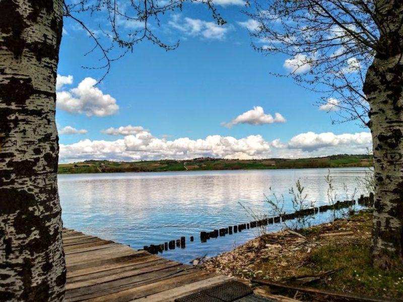 Panorama del lago di Chiusi