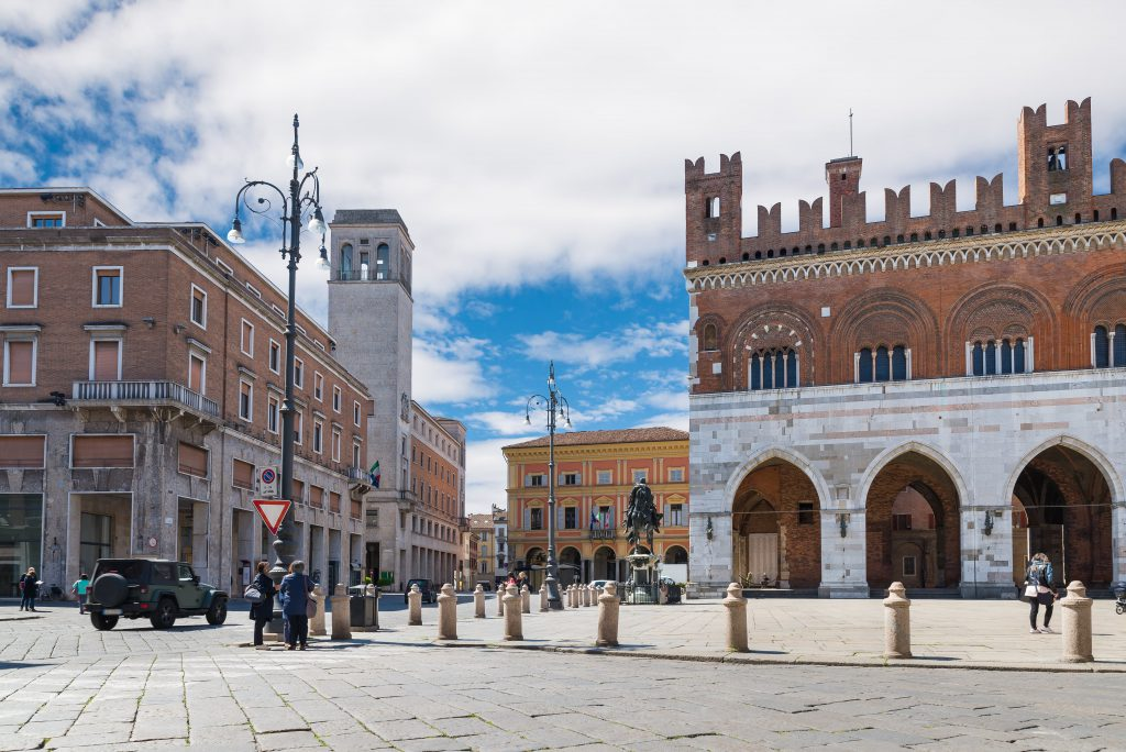 La piazza di Piacenza