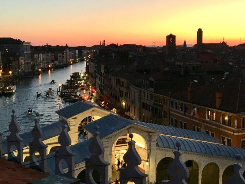 Una fotografia di Venezia dall'alto
