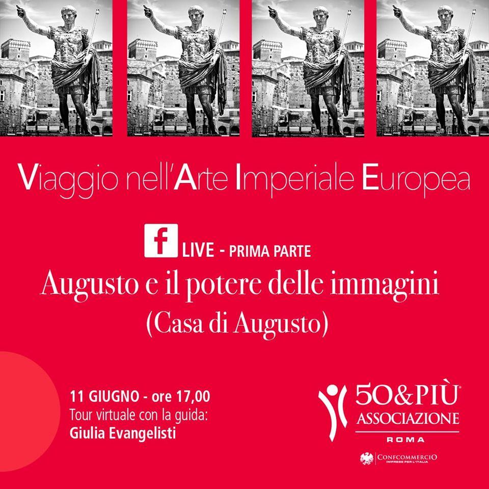 Roma locandina tour virtuale su Facebook