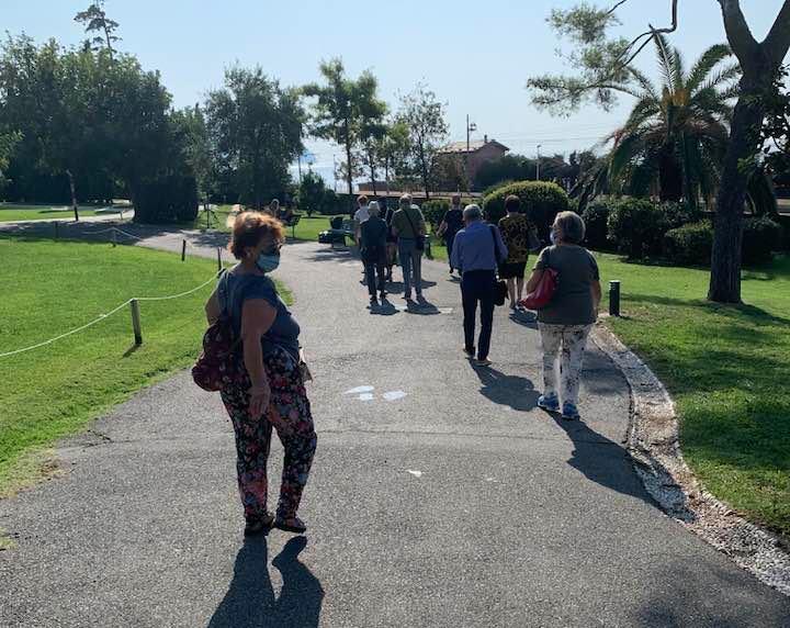 Soci di Genova in visita al Parco Nervi