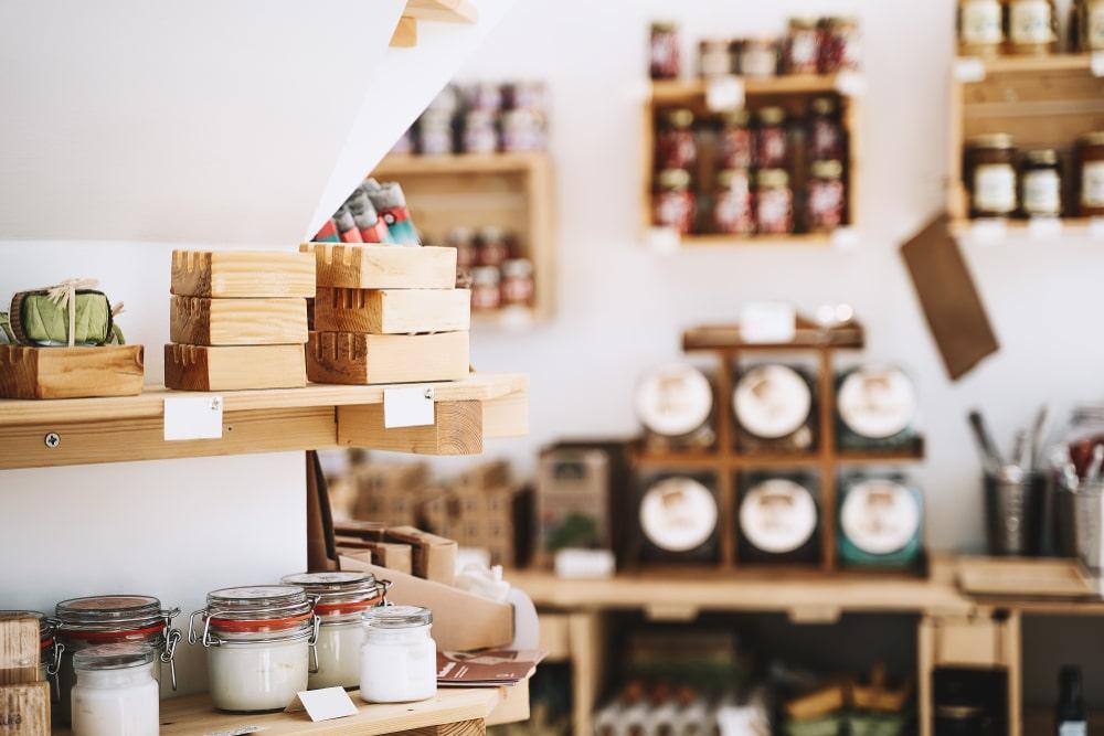 Bottega di prodotti artigianali