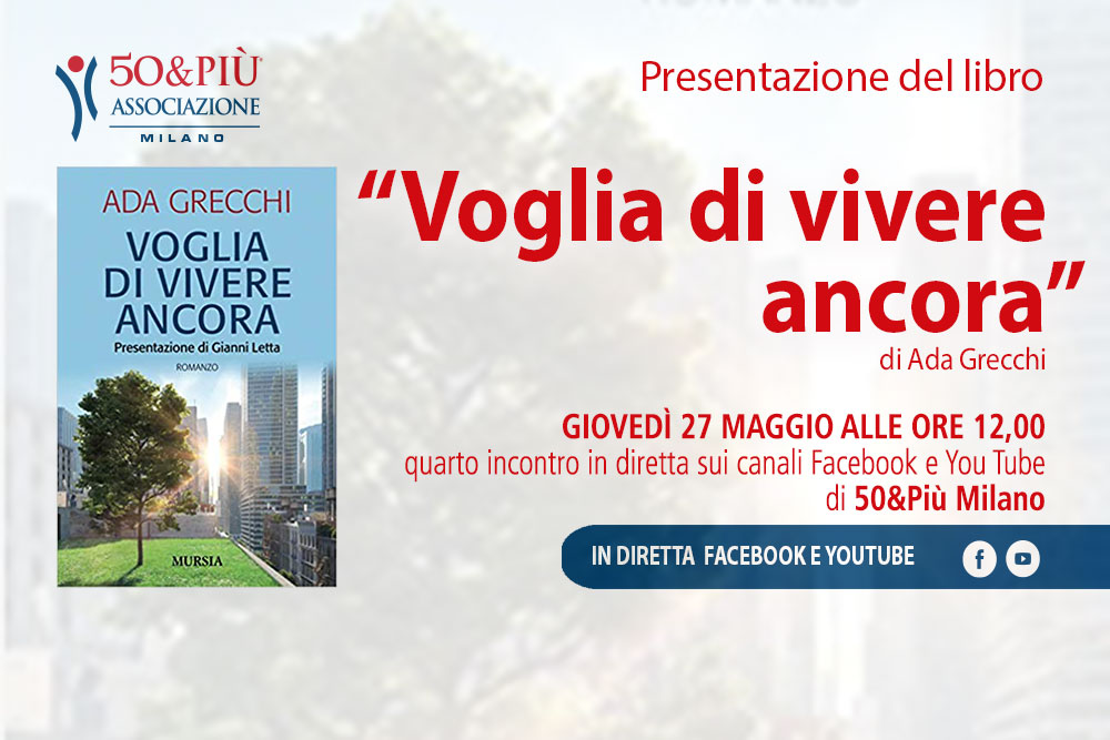Locandina presentazione libro voglia di vivere ancora di Ada Greppi