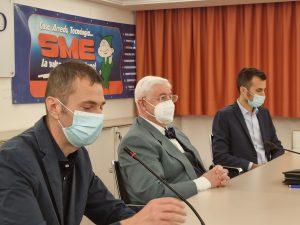 Presidente 50&PIù Pordenone Enzo Bordelot ed altre autorità intervenute alle premiazione