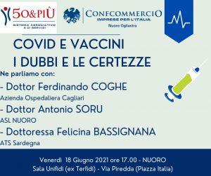 locandina Nuoro Covid e vaccini