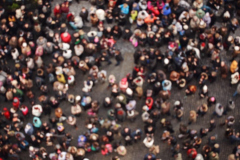 Uno scatto della popolazione dall'alto
