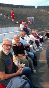 soci di caserta allo spettacoli a Pompei