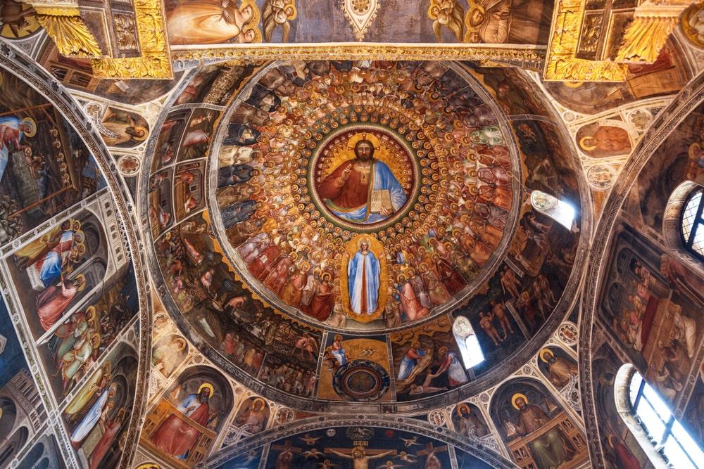 Padova. Affreschi del Battistero