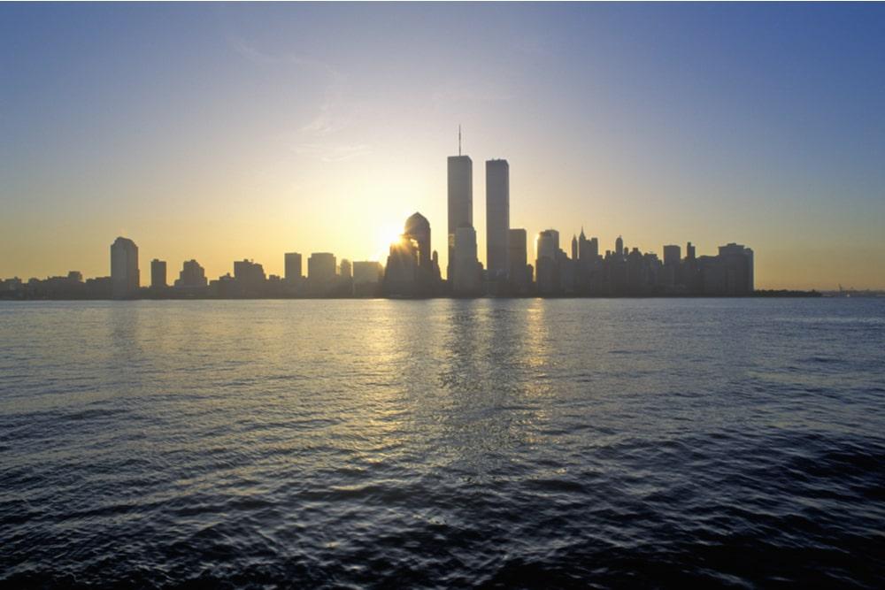 Lo skyline di New York prima dell'11 settembre
