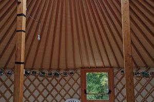L'interno della Yurta di Cascina Rapello