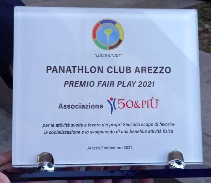 Targa premio Fair Play