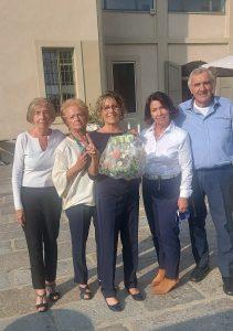 Torino i fiori alla medaglia d'argento alle Olimpiadi 50&Più Maria Grazia Cartosio